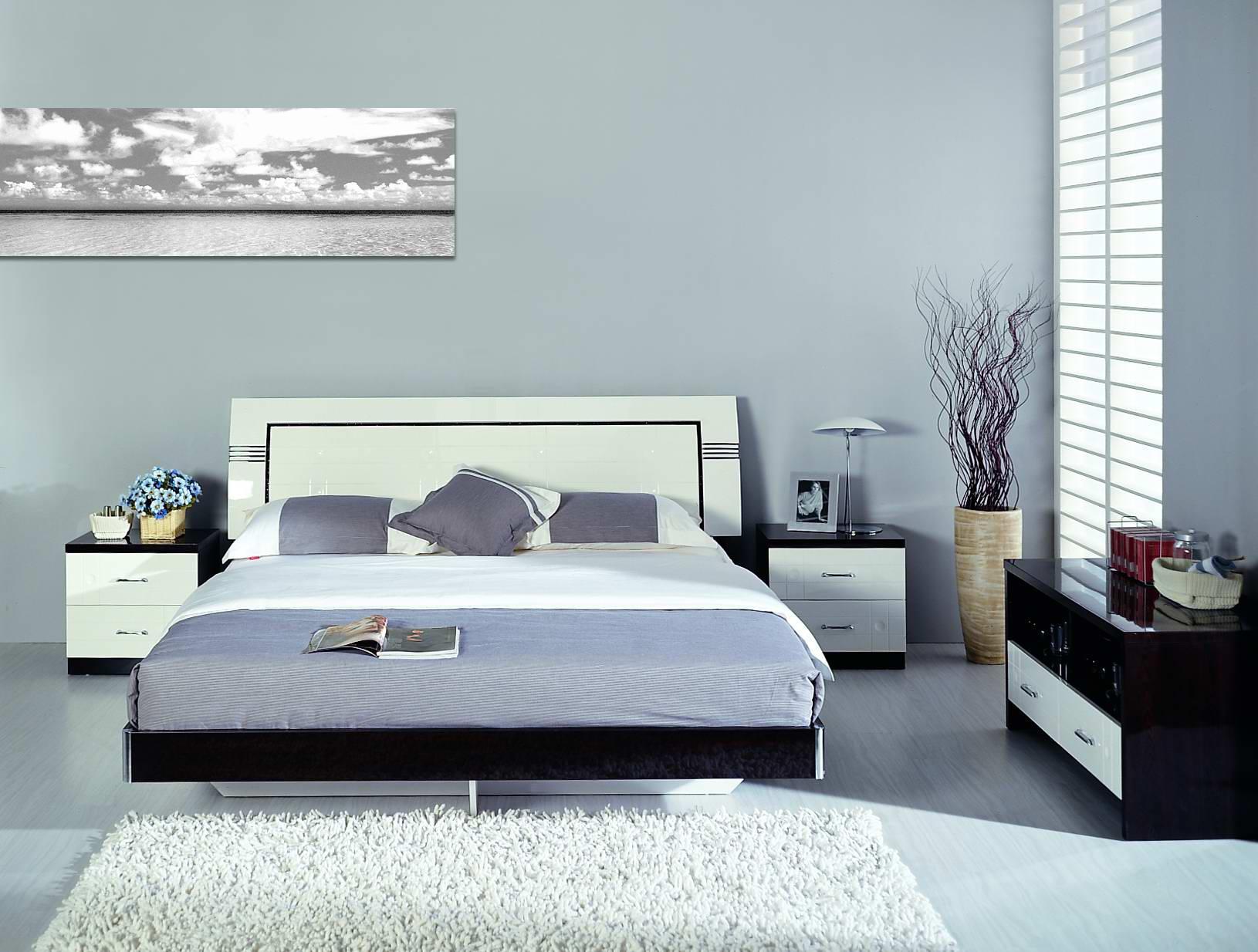 现代家具床手绘图
