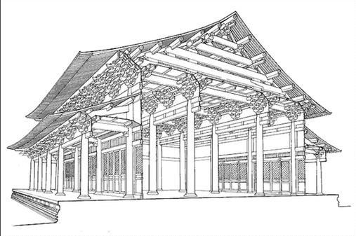 建筑设计图素描