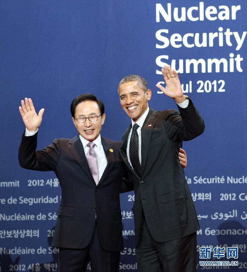 首尔核安全峰会开幕奥巴马出席迎宾