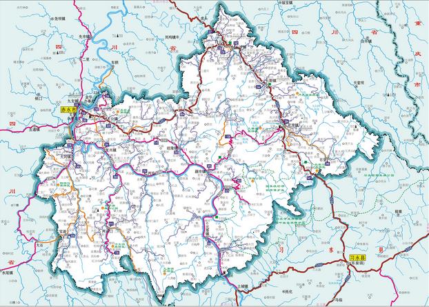 赤水市地图