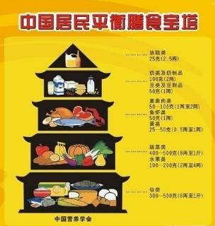 中国居民平衡膳食宝塔-中国居民膳食指南 搜狗百科