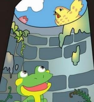 蛙血红细胞生物手绘图