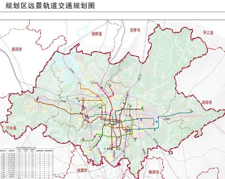 长沙轨道交通规划(2030年)