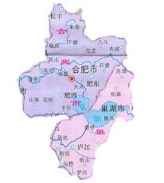 桐城的行政规划图-庐江县