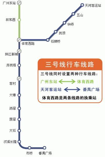 广州地铁三号线全线什么时候开通图片