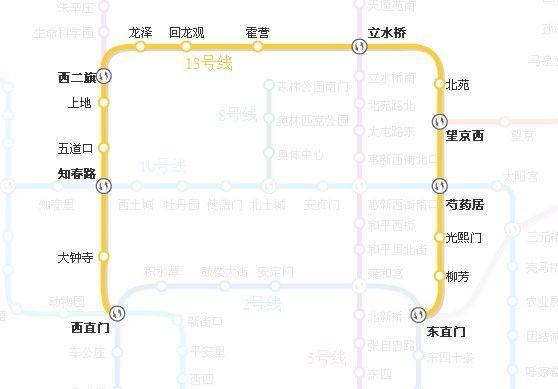 北京地铁13号线线路图示-北京地铁13号线 搜狗百科图片