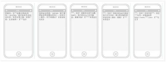 短信验证码/订单通知短信模板示例