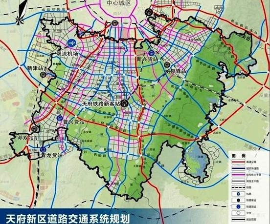 天府新区道路交通系统规划图-天府新区 搜狗百科图片