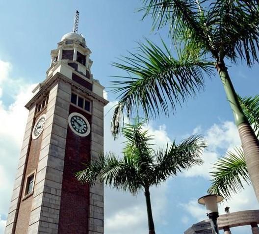 鹤壁钟楼手绘画图片
