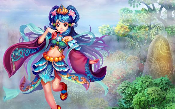 游戏将中国古典建筑的繁盛华丽与q版的可爱意味风格