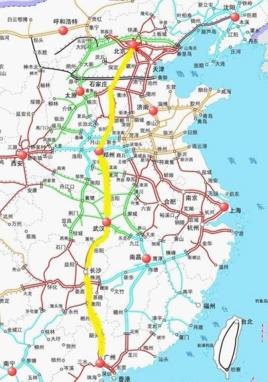 南到广州,经过河北