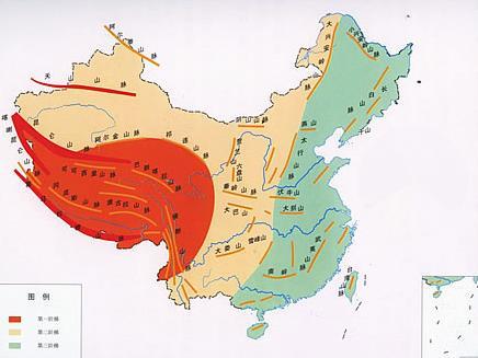 中国地形地图