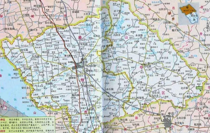 滕州地图全图卫星地图