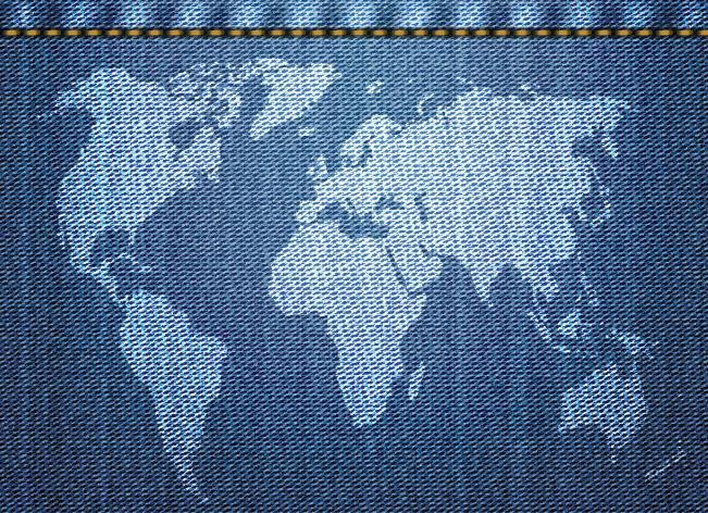 平纹或绉组织牛仔,坯布经防缩整理,缩水率比一般织物小,质地紧密,厚实