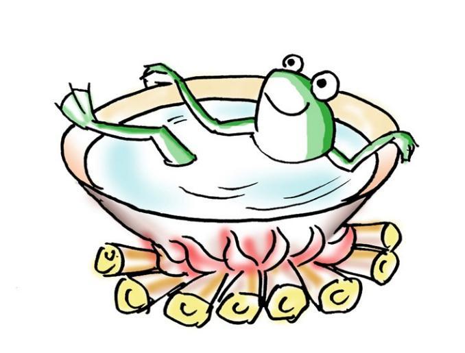 青蛙仿生设计手绘图