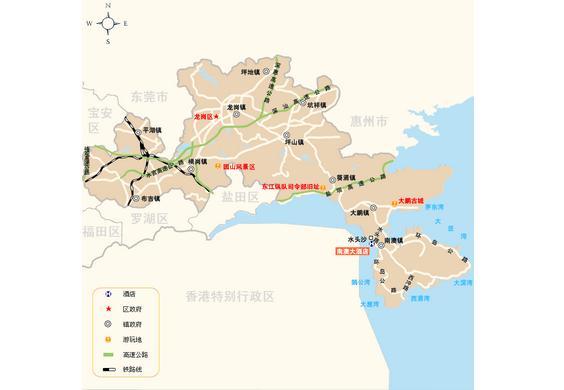 龙岗区地图