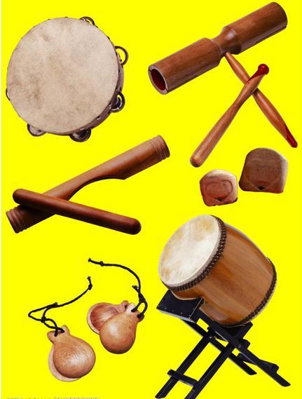 在中国的传统音乐中打击乐器的使用比较少,打击乐器(除木琴和编钟外)