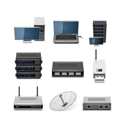 基本的网络设备有:计算机(无论其为个人电脑或服务器),集线器,交换机