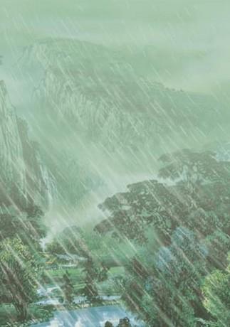 山雨简笔画步骤图