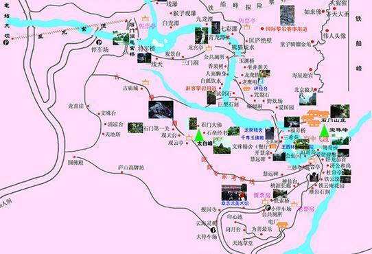 石门涧风景区地图