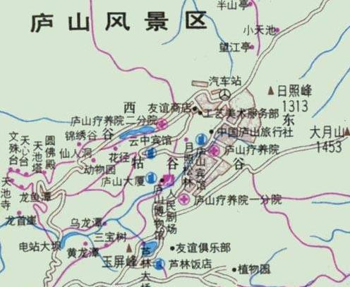 庐山景区地图