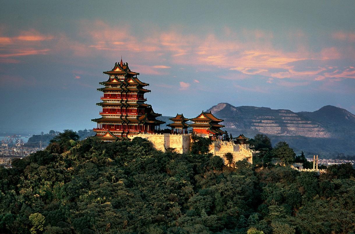 南京特色景点手绘