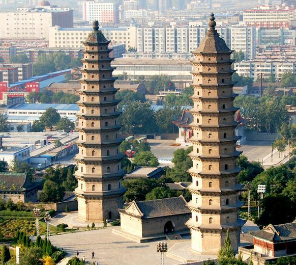 太原双塔是什么朝代建造有多少层塔高有多少米