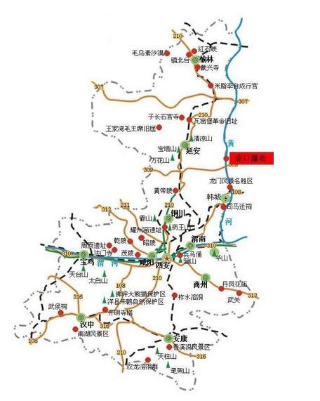 壶口瀑布旅游地图
