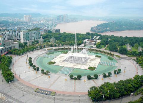 中心广场雕塑带手绘