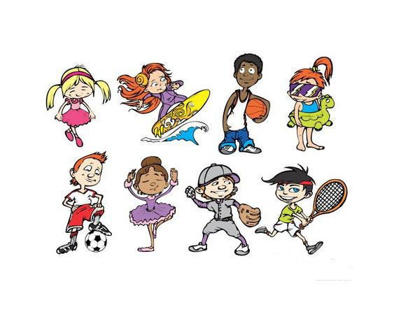 幼儿园锻炼活动卡通