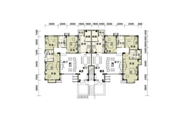 建筑平面图是假想在房屋的窗台以上作水平剖切后,移去上面部分作剩余