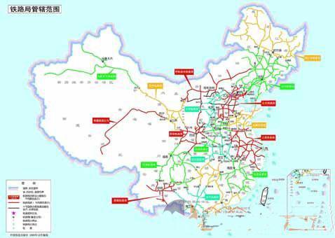中国铁路图