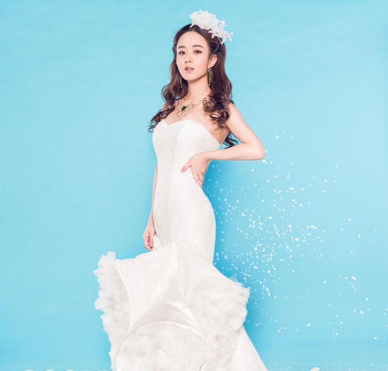 赵丽颖时尚婚纱写真