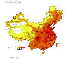 中国 人口密度_中国人口密度图