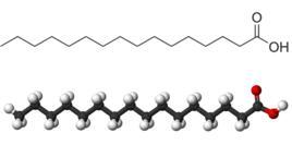 又称软脂酸,iupac名十六(烷)酸,是一种饱和高级脂肪酸,以甘油脂的形式图片