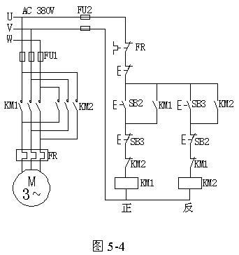 三相异步电动机正反转控制原理图