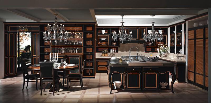 列宾实木橱柜采用进口美国橡木,美国黑胡桃木,美国赤桦,加拿大枫木