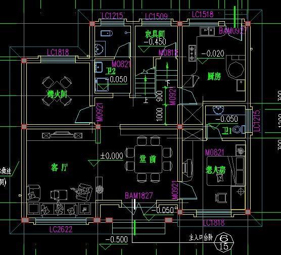 建筑设计图纸中ar
