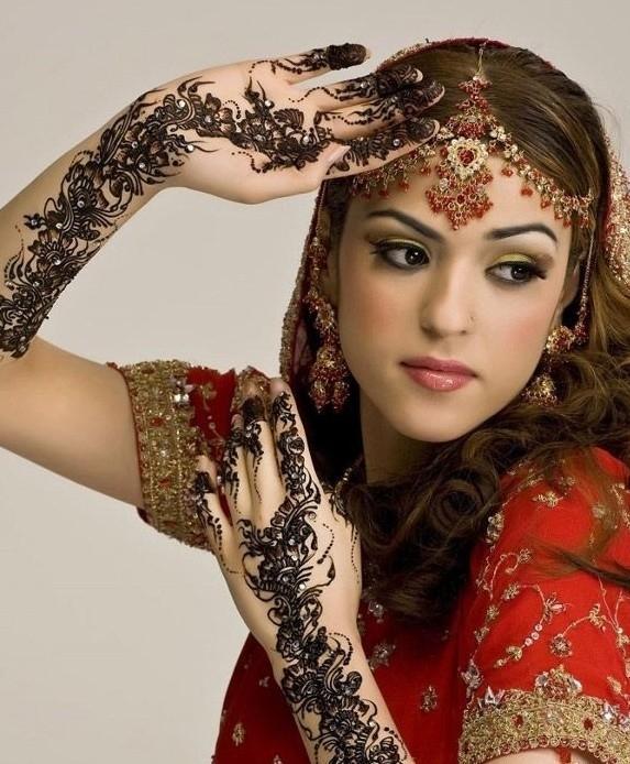印度结婚海娜手绘图案