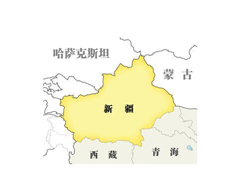 少儿手绘新疆版地图