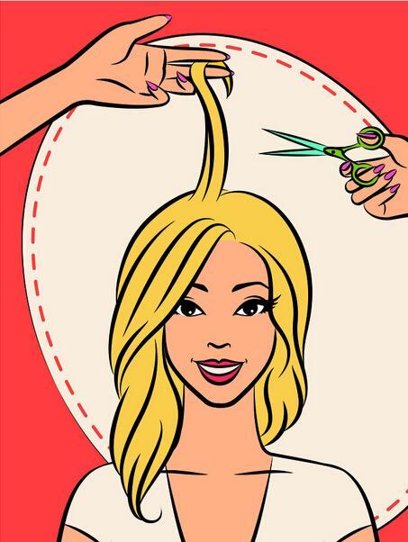 理发剪刀 卡通图