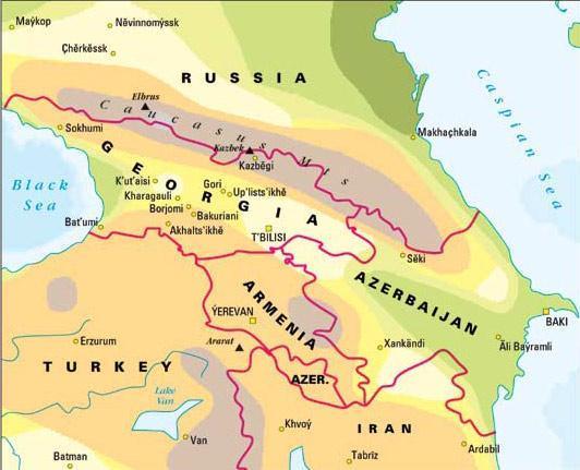 高加索地图