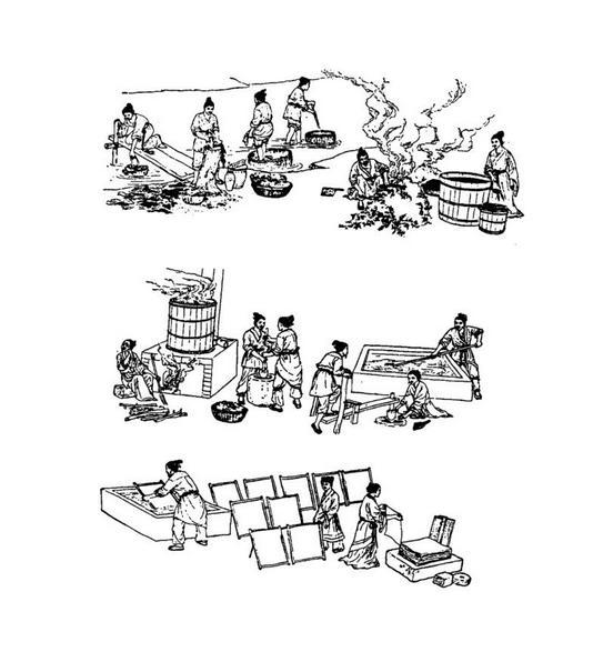 造纸术的发明对于人类文明的传播有巨大的作用图片