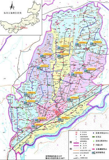 临河区地图