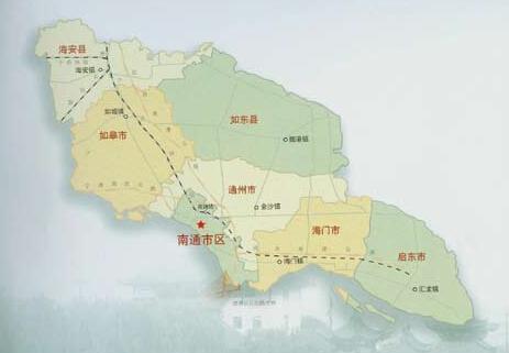 如东县区位,交通不断改善,产业,城市不断发展,提出以