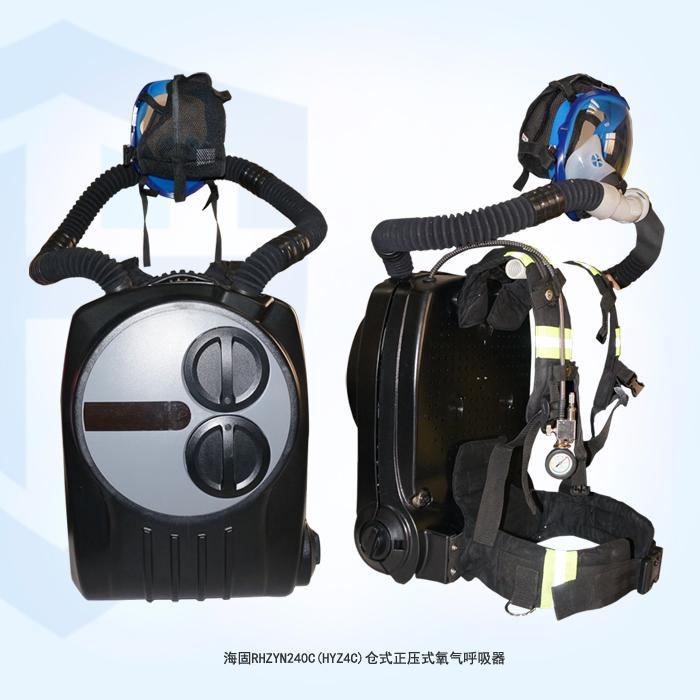 由金属外壳,压缩氧气瓶,净化罐,气囊,呼吸阀,减压器,压力表,全面罩,导图片