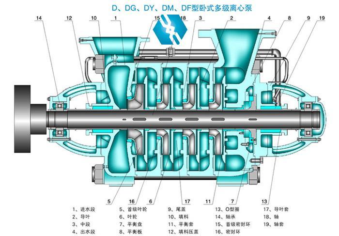 d型多级泵结构图
