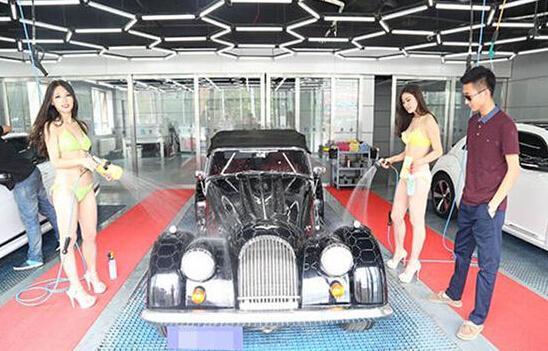 比基尼美女洗车