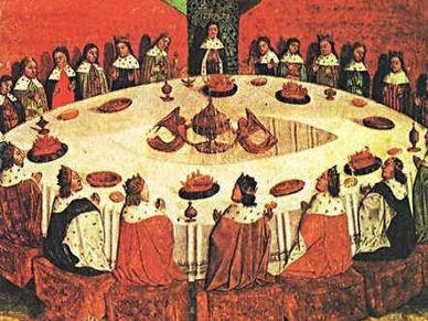 亚瑟王和圆桌骑士 原文图片