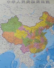 中国竖版地图